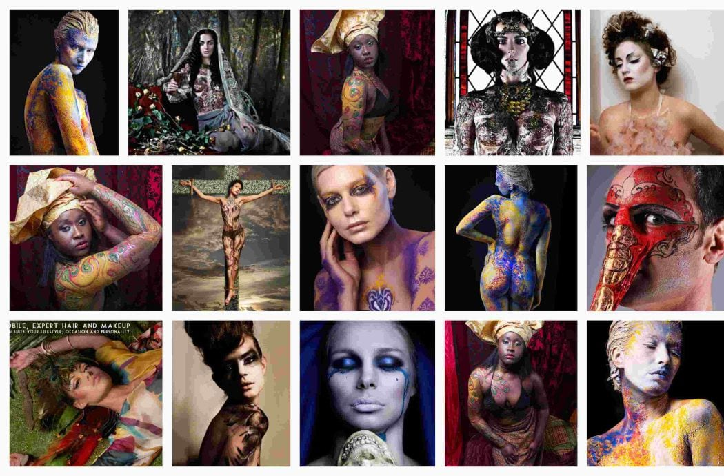 Body art photo shoot at ftphotography with makeup, hair & styling