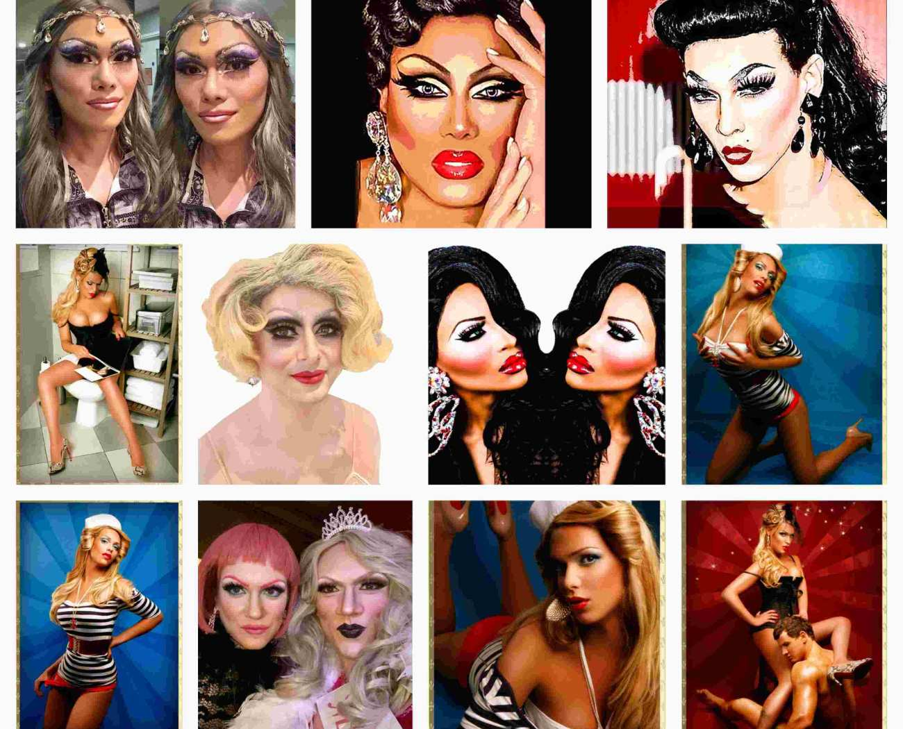 Drag photo shoot at ftphotography with makeup, hair & styling