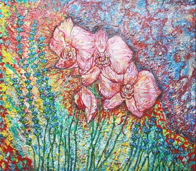 Fine Art London Flower painting by Fiona Tanner