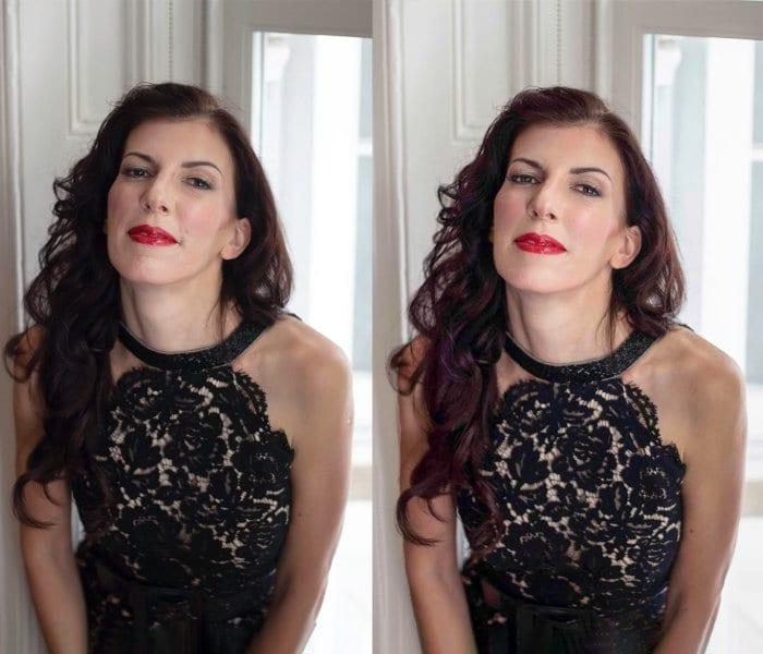 Image Retouching; age reducing and skin smoothing